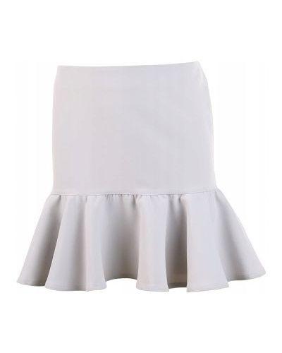 Szara spódnica z falbanami Mohito