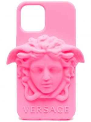 Etui na okulary - różowe Versace