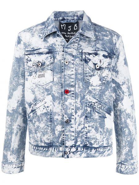 Niebieskie jeansy bawełniane z długimi rękawami Mjb Marc Jacques Burton