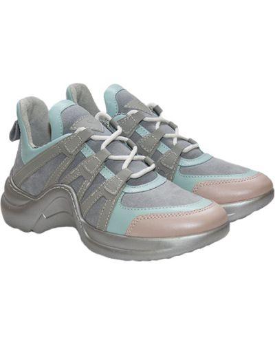 Кожаные кроссовки - серые Tucino