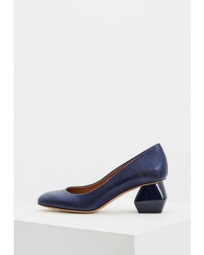 Синие туфли для офиса Emporio Armani