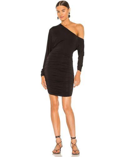 Облегающее черное платье мини с оборками Michael Costello