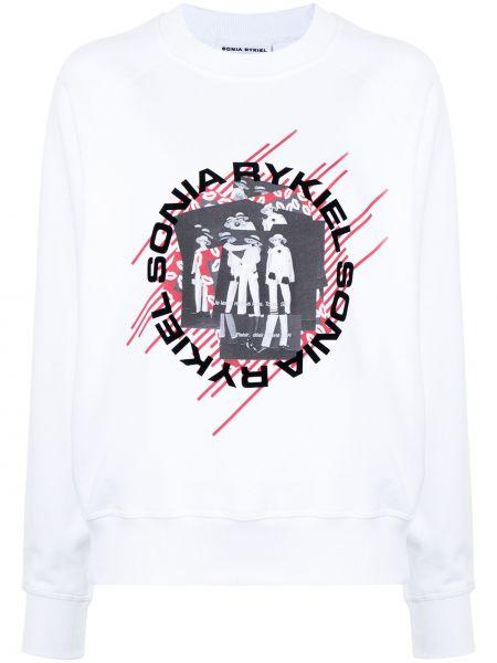 Biała bluza z printem Sonia Rykiel