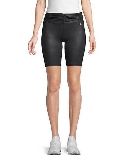 Армейские кожаные короткие шорты с оборками Body Language