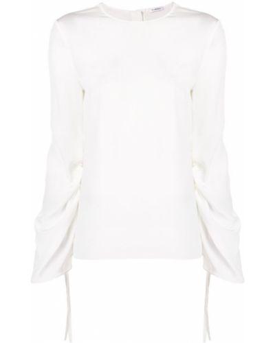 Блузка с длинным рукавом шелковая в полоску Vilshenko