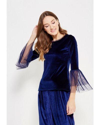 Синяя блузка с длинным рукавом с длинными рукавами Adl