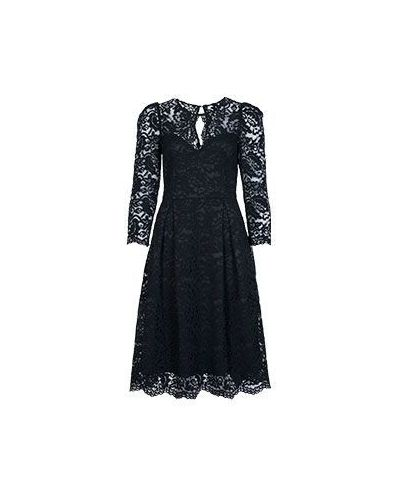 Хлопковое черное вечернее платье Vuall