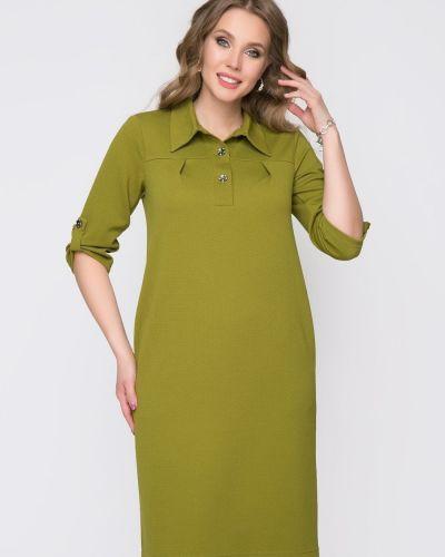 Прямое с рукавами платье-рубашка с воротником Diolche