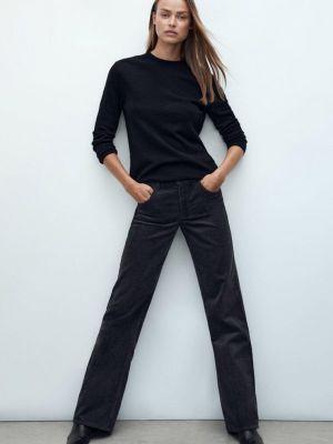 Черные зимние брюки Massimo Dutti