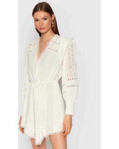 Biała sukienka koktajlowa Iro