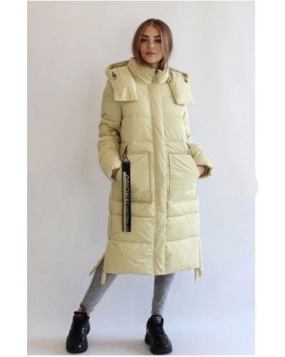 Пуховик-пальто - желтый Mishele