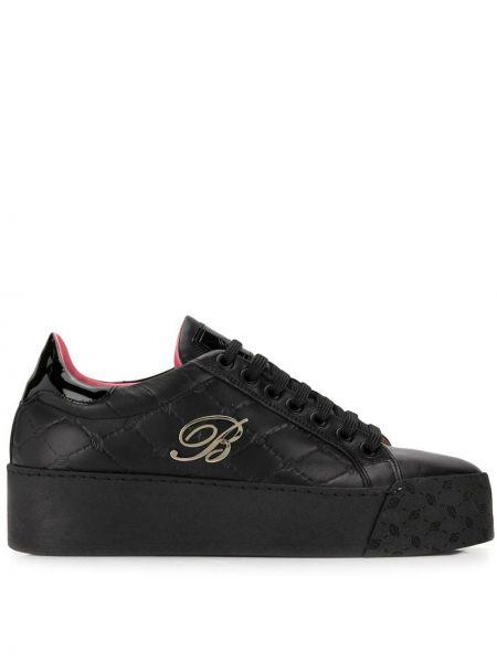Кроссовки на платформе черные с логотипом Blumarine