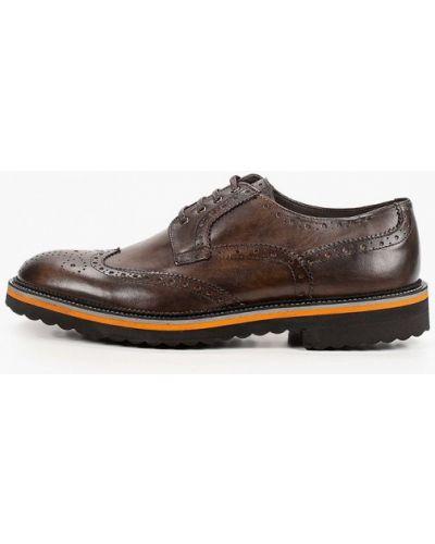 Коричневые кожаные туфли F.lli Rennella