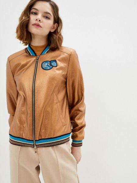 Кожаная коричневая кожаная куртка Alexander Bogdanov