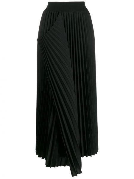 Spódnica midi asymetryczny plisowana Maison Flaneur