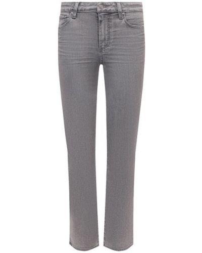 Хлопковые джинсы - серые Paige