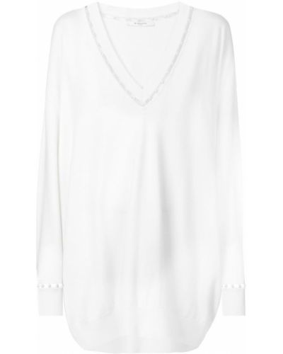 Джемпер с V-образным вырезом с вышивкой Givenchy