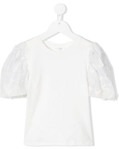 Biała bluzka bawełniana Charabia