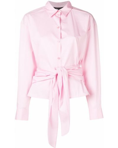 Блузка с длинным рукавом розовый с бантом Armani Exchange