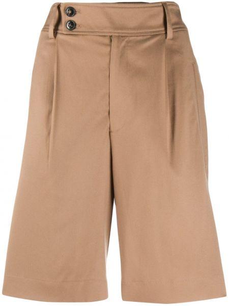 Коричневые шорты с карманами закрытые Closed