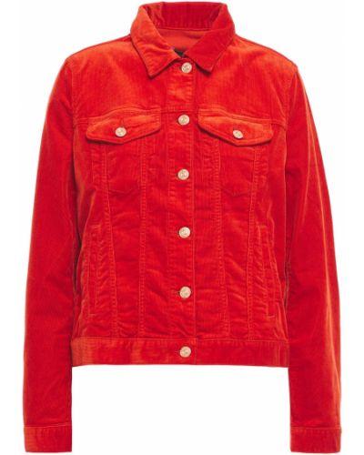 Оранжевая ватная куртка вельветовая 7 For All Mankind