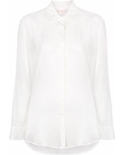 Классическая рубашка свободного кроя белая Xirena