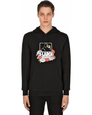 Czarna bluza z kapturem bawełniana X-large
