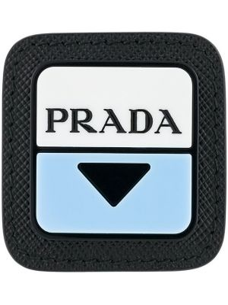 Кожаная брошь - белая Prada