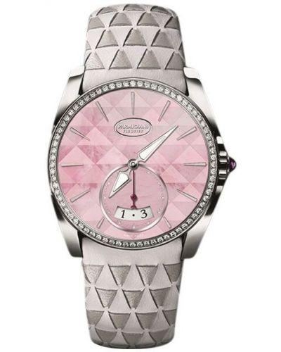 Różowy wodoodporny zegarek skórzany szafir Parmigiani Fleurier