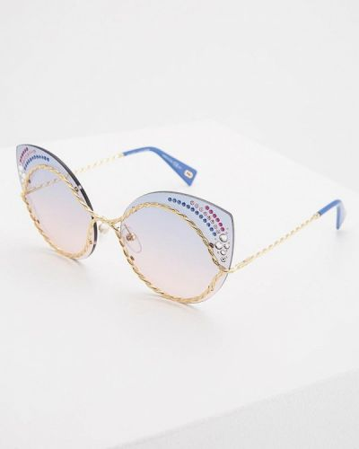 Солнцезащитные очки кошачий глаз золотой Marc Jacobs