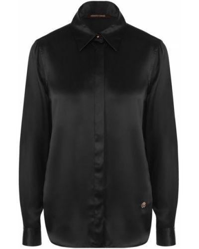 Блузка с длинным рукавом шелковая прямая Roberto Cavalli