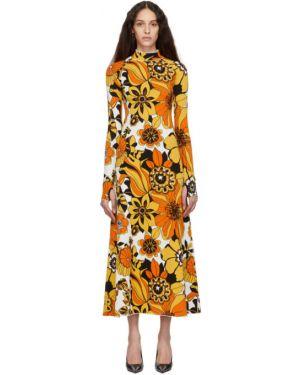 Платье макси с цветочным принтом вязаное Kwaidan Editions