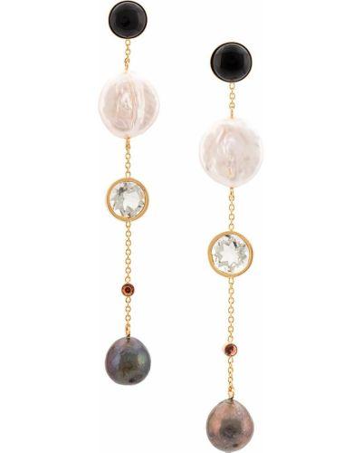 Черные серьги-гвоздики металлические Lizzie Fortunato Jewels