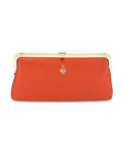 Złota kopertówka - pomarańczowa Mark Cross
