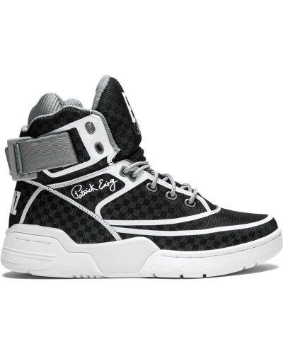 Кроссовки с логотипом черные Ewing