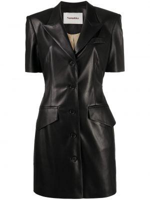 Платье мини короткое - черное Nanushka