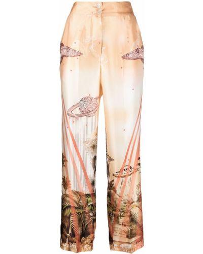 Свободные оранжевые брюки свободного кроя F.r.s. For Restless Sleepers