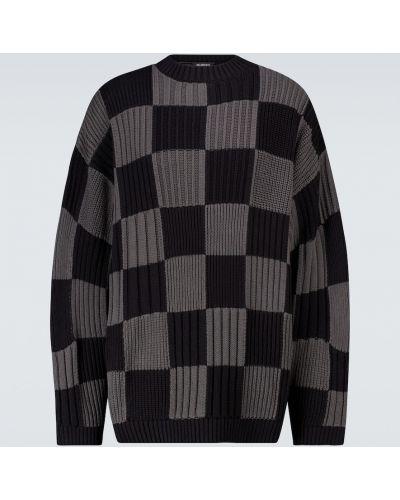 Klasyczny czarny sweter bawełniany Balenciaga