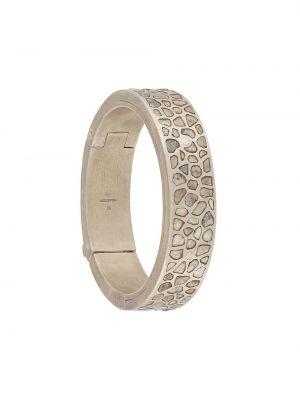 Szeroki bransoletka z diamentem srebrna Parts Of Four