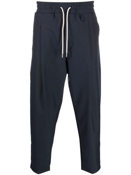Niebieskie spodnie wełniane Drole De Monsieur