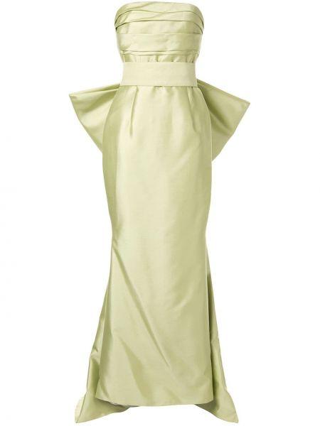 Вечернее платье на молнии зеленый Bambah