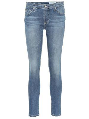 Джинсовые зауженные джинсы - синие Ag Jeans