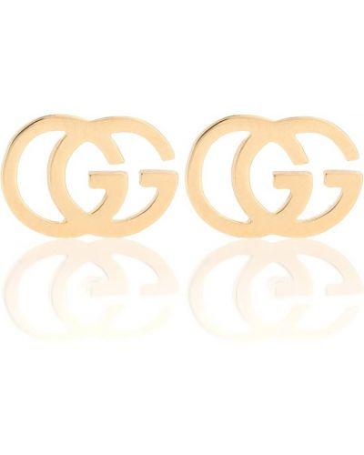 Золотые серьги жёлтые серьги-кольца Gucci