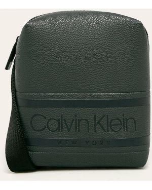 Torba na ramieniu sport skórzana Calvin Klein
