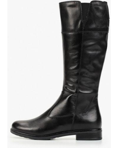 Ботинки на каблуке осенние черные Tamaris