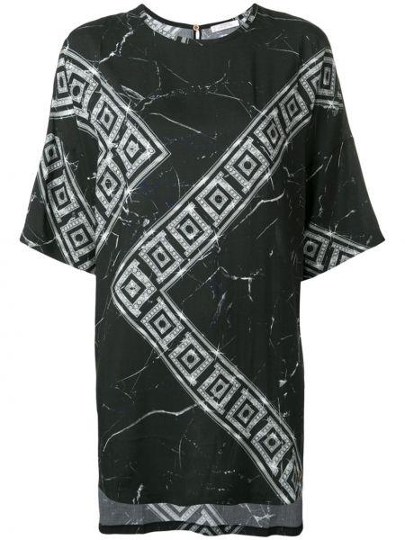 Футбольная черная футболка свободного кроя Versace Collection