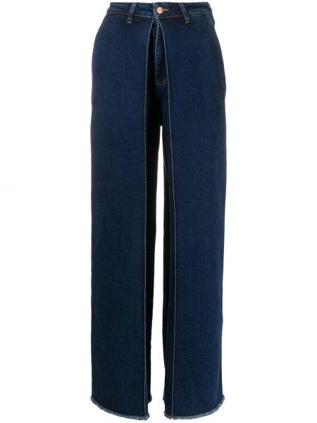 Klasyczne niebieskie jeansy z wysokim stanem Aalto
