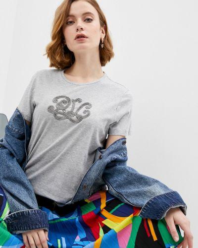 Серая футболка с короткими рукавами Lauren Ralph Lauren