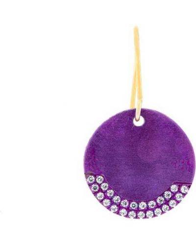 Фиолетовые серебряные серьги с подвесками Eye M By Ileana Makri