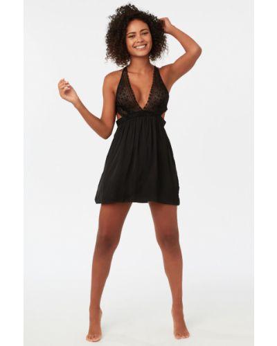 Пижама с рубашкой черная Etam